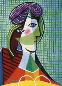 Pablo-Picasso-SEATED-WOMAN-WITH-RED-HAT-Estate-Signed-Print-Abstract-Canvas-Prints-Cartoon-Abstract-oil